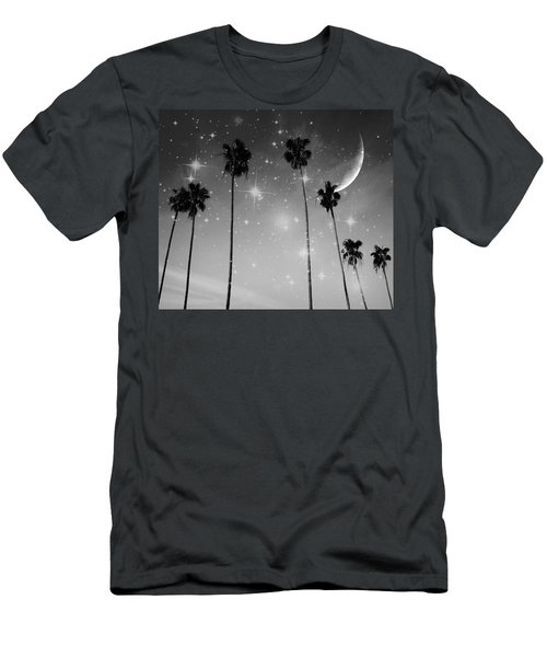 Men's T-Shirt (Athletic Fit) featuring the photograph Black And White Starry Night by Marianna Mills