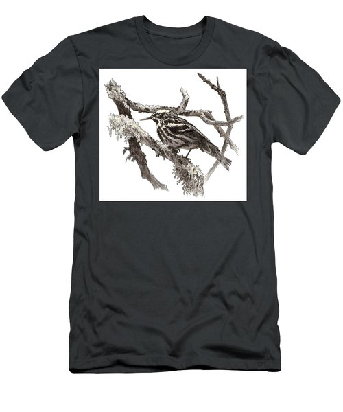Black-and-white Warbler Men's T-Shirt (Athletic Fit)