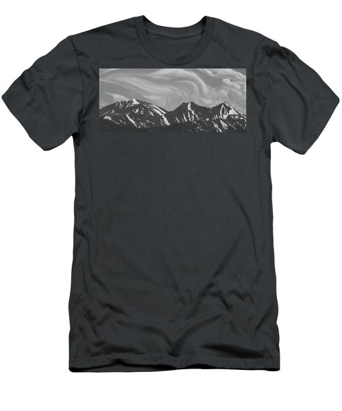 Black Day Mountain Men's T-Shirt (Athletic Fit)