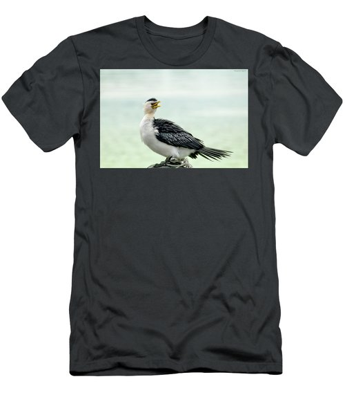 black faced Cormorant 02 Men's T-Shirt (Slim Fit) by Kevin Chippindall