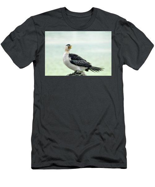 black faced Cormorant 02 Men's T-Shirt (Athletic Fit)