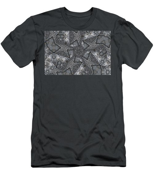 Black Granite Kaleido #4 Men's T-Shirt (Slim Fit) by Peter J Sucy