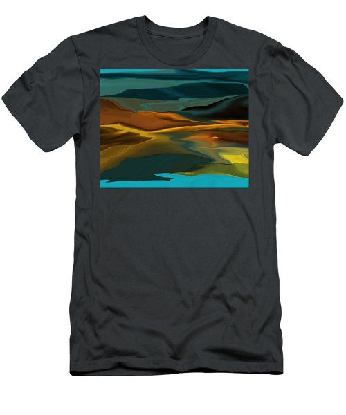 Black Hills Abstract Men's T-Shirt (Athletic Fit)