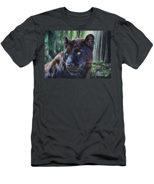 Black Leopard Men's T-Shirt (Athletic Fit)