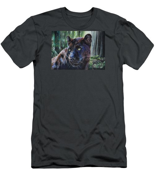 Black Leopard Men's T-Shirt (Athletic Fit)