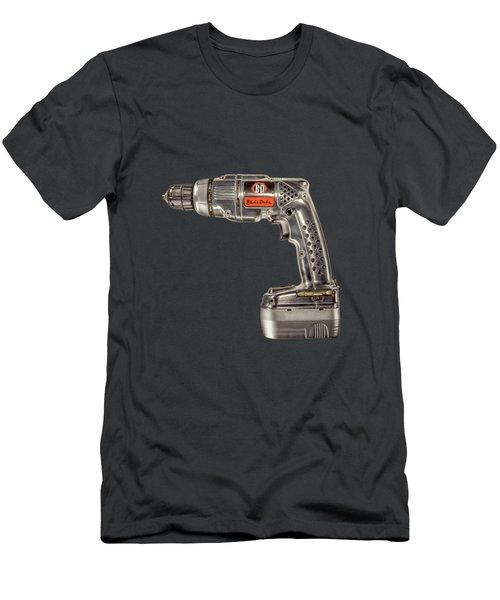 Black N Decker Retro Drill On Black Men's T-Shirt (Athletic Fit)