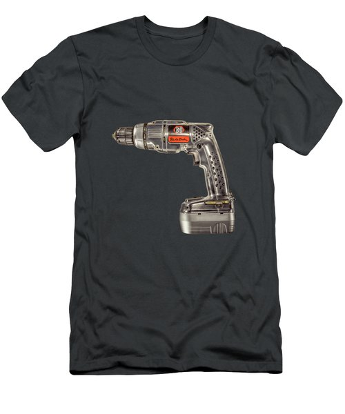 Black N Decker Retro Drill On Black Men's T-Shirt (Athletic Fit)