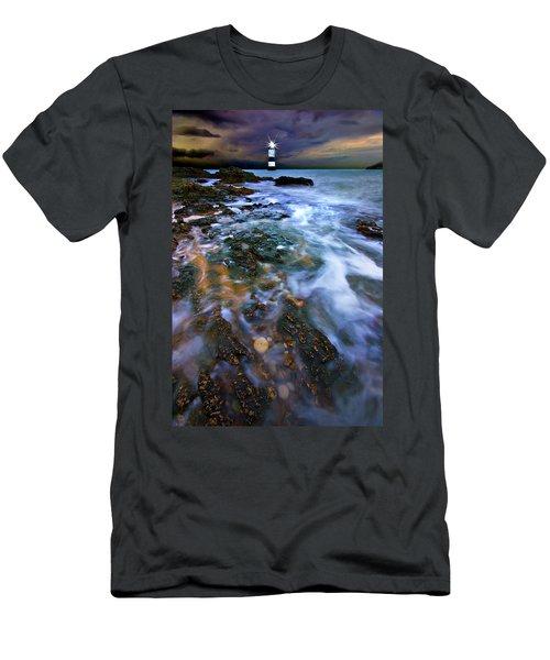 Black Point Light Men's T-Shirt (Athletic Fit)