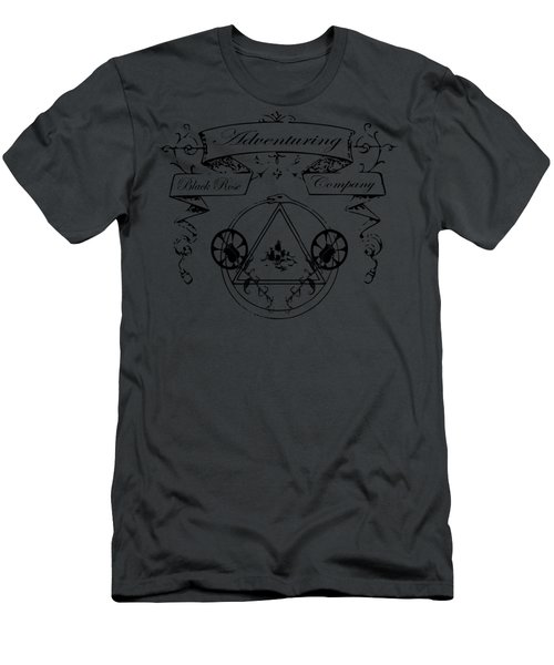 Black Rose Adventuring Co. Men's T-Shirt (Slim Fit) by Nyghtcore Studio