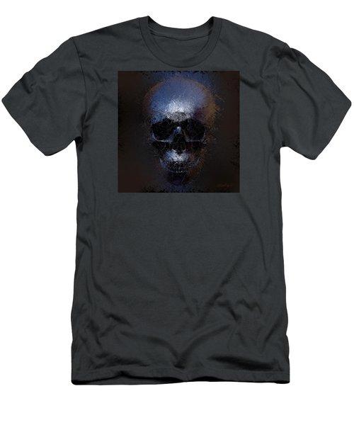 Black Skull Men's T-Shirt (Slim Fit) by Vitaliy Gladkiy