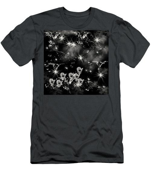 Men's T-Shirt (Slim Fit) featuring the drawing Black Square By Jenny Rainbow by Jenny Rainbow
