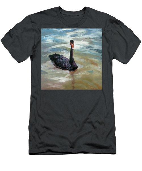 Black Swan Men's T-Shirt (Slim Fit) by Roseann Gilmore