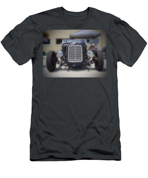 Black T-bucket Men's T-Shirt (Athletic Fit)