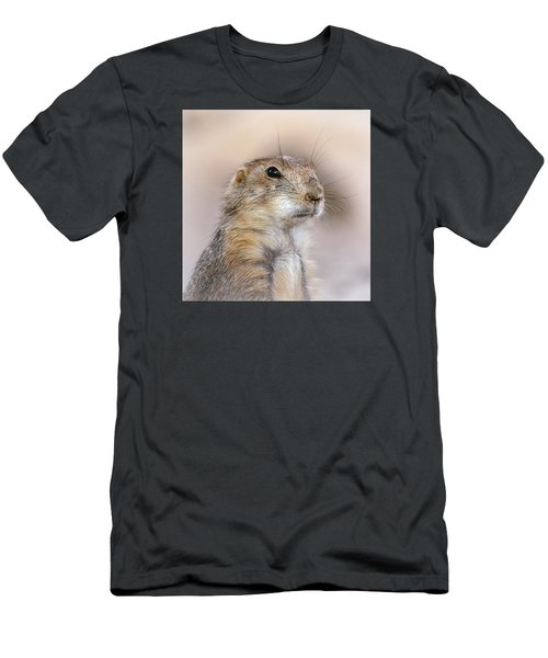 Men's T-Shirt (Slim Fit) featuring the photograph Black Tail Prairie Dog by Elaine Malott