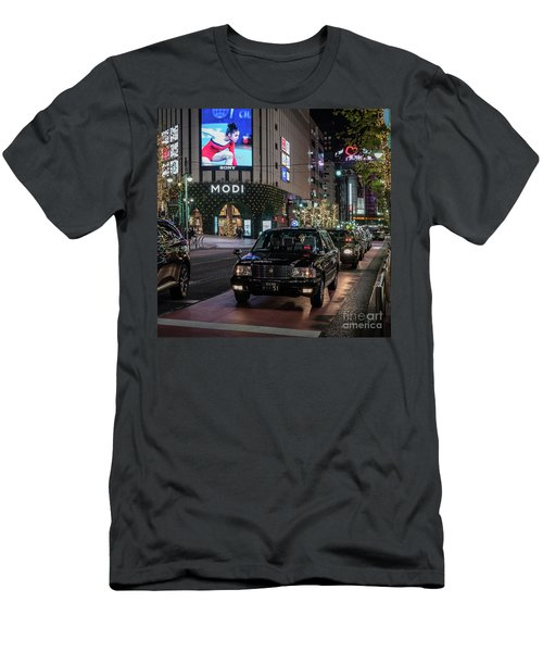 Black Taxi In Tokyo, Japan Men's T-Shirt (Athletic Fit)
