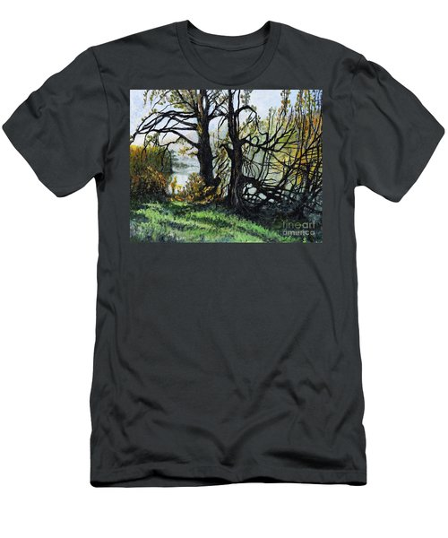 Black Trees Entanglement Men's T-Shirt (Athletic Fit)