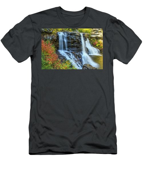 Black Water Falls #3 Men's T-Shirt (Athletic Fit)