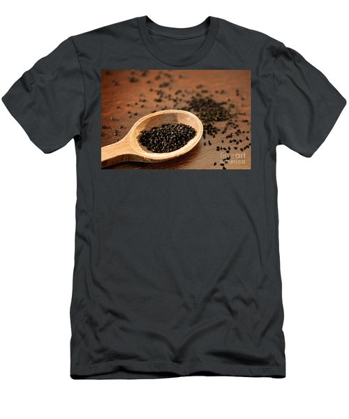 Black Whole Nigella Sativa Seeds Men's T-Shirt (Athletic Fit)