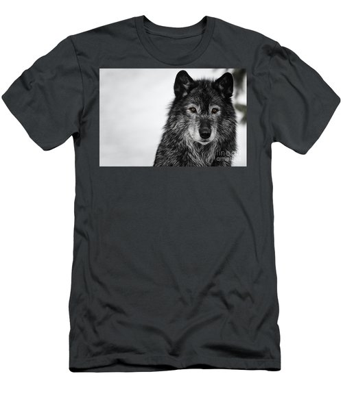 Black Wolf I Men's T-Shirt (Athletic Fit)