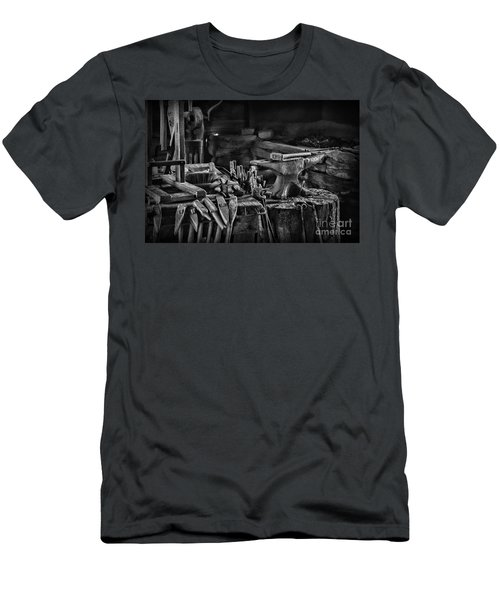 Blacksmith-this Is My Anvil Black And White Men's T-Shirt (Athletic Fit)
