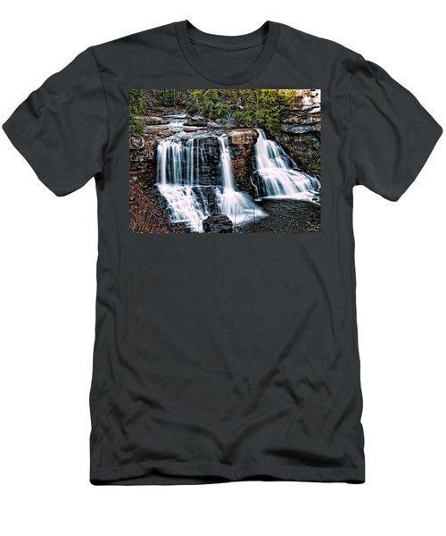 Men's T-Shirt (Slim Fit) featuring the photograph Blackwater Falls, West Virginia by Skip Tribby