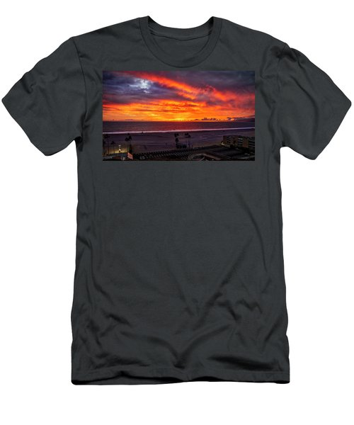 Blazing Sunset Over Malibu Men's T-Shirt (Athletic Fit)