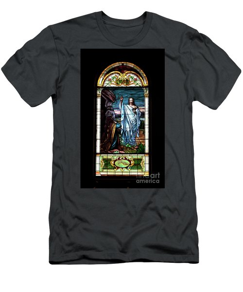 Blessed By Jesus Men's T-Shirt (Athletic Fit)