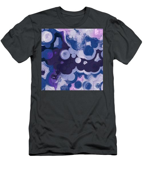 Men's T-Shirt (Slim Fit) featuring the digital art Blobs - 11c2b by Variance Collections