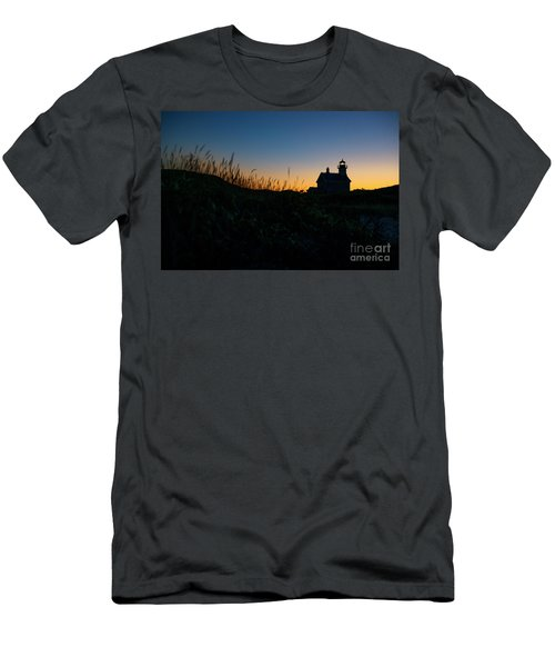 Block Island North Light Men's T-Shirt (Athletic Fit)