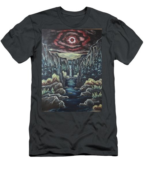 Blood Moon Men's T-Shirt (Slim Fit) by Cheryl Pettigrew