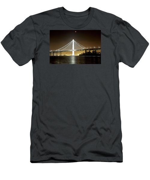 Blood Moon Over Bay Bridge Men's T-Shirt (Athletic Fit)