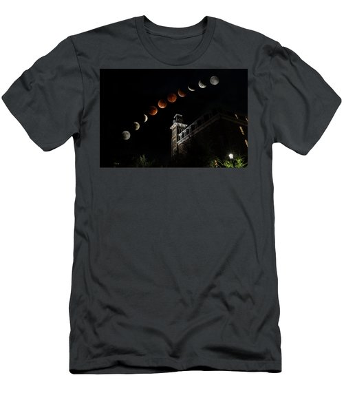 Blood Moon Over Old Main Men's T-Shirt (Athletic Fit)