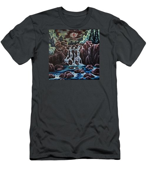 Blood Moon Rising Men's T-Shirt (Slim Fit) by Cheryl Pettigrew