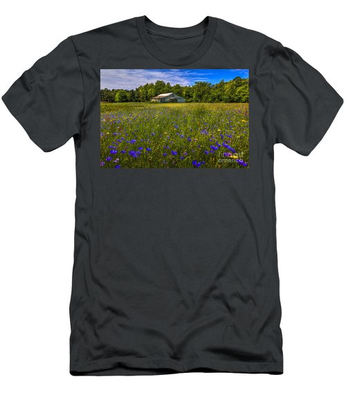 Blooming Country Meadow Men's T-Shirt (Athletic Fit)
