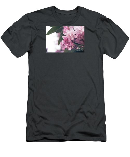 Blooming Pink Men's T-Shirt (Slim Fit) by Rebecca Davis