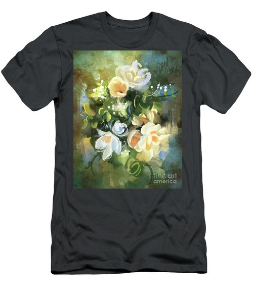 Men's T-Shirt (Athletic Fit) featuring the painting Blooming by Tithi Luadthong