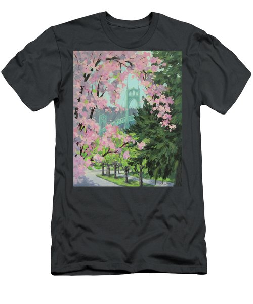 Blossoming Bridge Men's T-Shirt (Athletic Fit)
