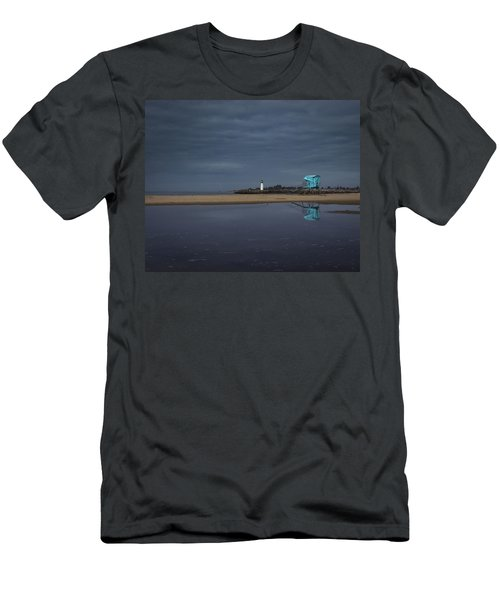 Men's T-Shirt (Athletic Fit) featuring the photograph Blue And Grey by Lora Lee Chapman
