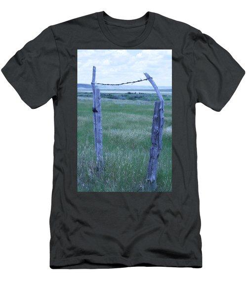 Blue Barbwire Men's T-Shirt (Athletic Fit)