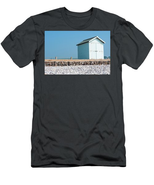 Blue Beach Hut Men's T-Shirt (Athletic Fit)