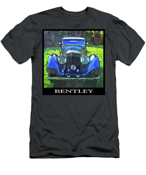 Blue Bentley Pop Title Men's T-Shirt (Athletic Fit)