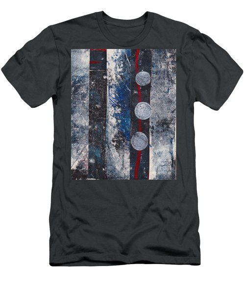 Blue Black Collage Men's T-Shirt (Athletic Fit)