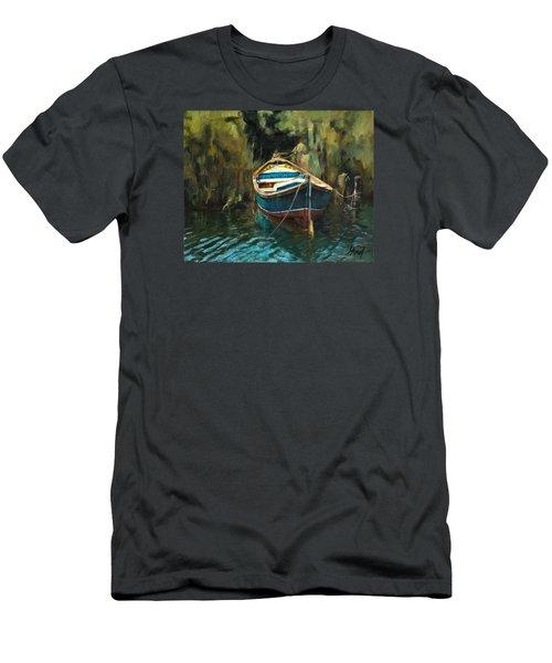Blue Boat Men's T-Shirt (Athletic Fit)