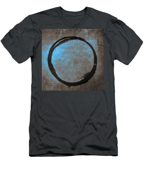 Blue Brown Enso Men's T-Shirt (Athletic Fit)