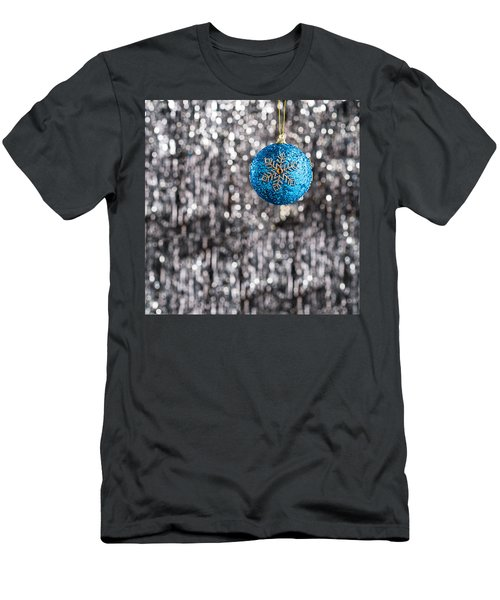 Men's T-Shirt (Slim Fit) featuring the photograph Blue Christmas by Ulrich Schade