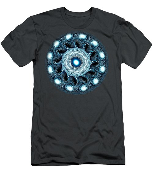 Blue Circle Men's T-Shirt (Slim Fit) by Anastasiya Malakhova