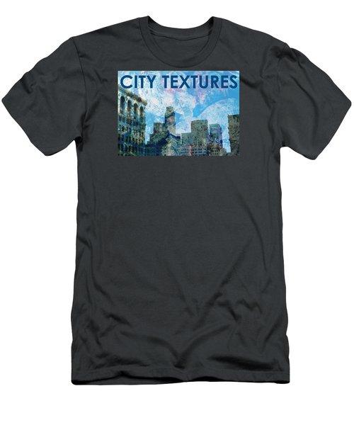 Blue City Textures Men's T-Shirt (Slim Fit) by John Fish