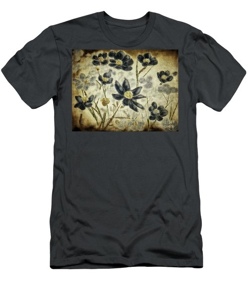 Men's T-Shirt (Athletic Fit) featuring the digital art Blue Daisies by Lois Bryan