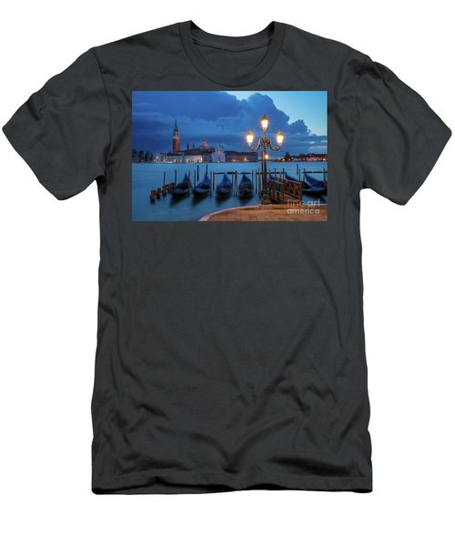 Men's T-Shirt (Slim Fit) featuring the photograph Blue Dawn Over Venice by Brian Jannsen