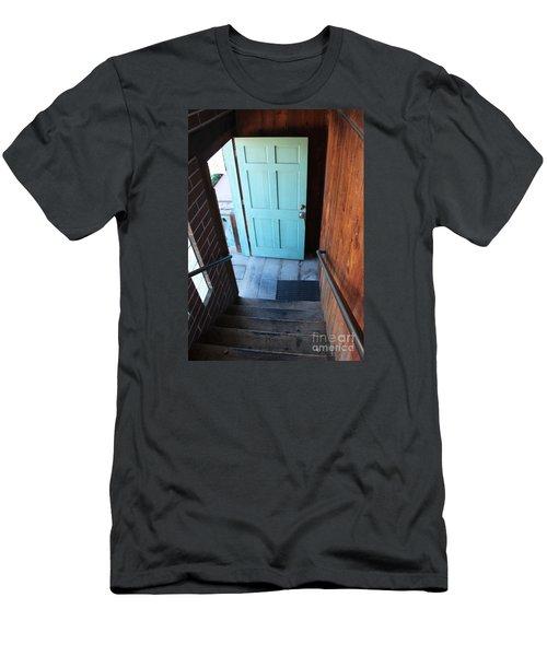 Blue Door Men's T-Shirt (Slim Fit) by Cheryl Del Toro
